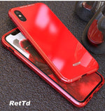 Magnetic Adsorption Flip Case for iPhone X