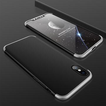 3 in 1 Double Dip 360° Full Protection PC Case With Tempered Glass Film for iPhone X