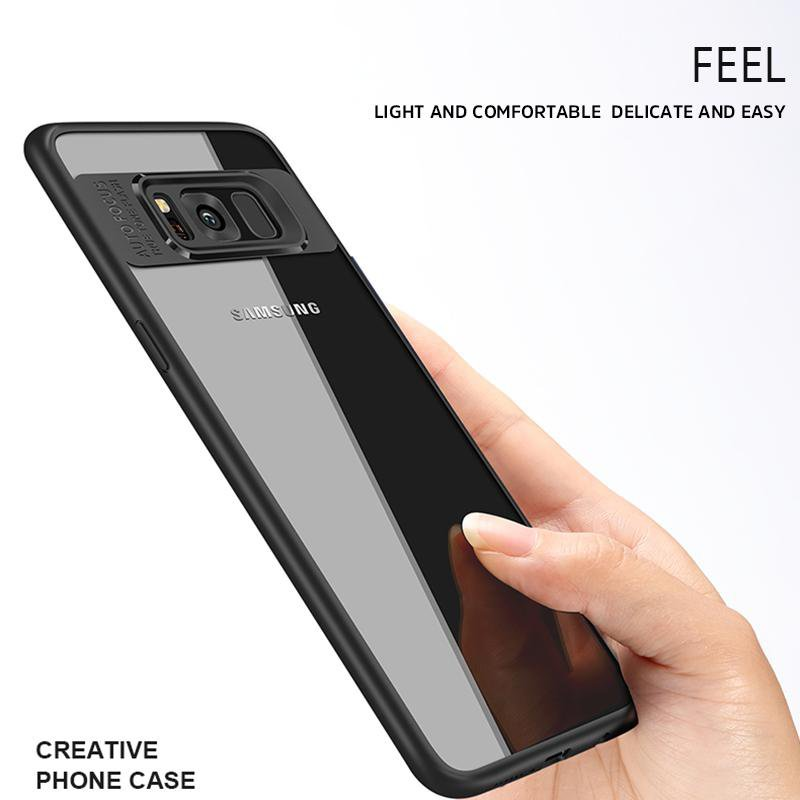 Naked back phone case transparent drop protection cover for Samsung S8/S8+/S9/S9+/Note8/Note9