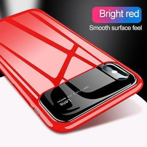 Mirror Bare Case Ultra Thin Tempered Glass Len Case Full Protective TPU & PC Acrylic Hard Clear Case For iPhone
