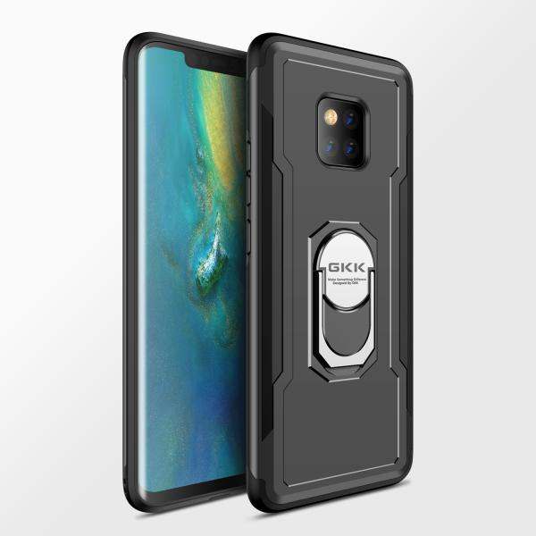 Shockproof Ring Armor Hard PC Case 2 in 1 Magnetic Bracket Phone Case for Huawei Mate 20/ Mate 20 Pro P20 Lite