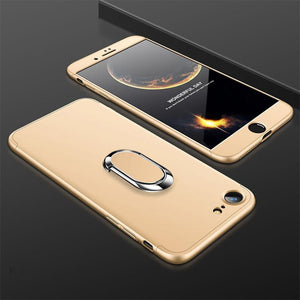 3 in 1 Double Dip 360° Full Body PC Protective Case with Ring Holder for iPhone 6/6s 6P/6SP 7/8 7/8 Plus X XS XR XS Max