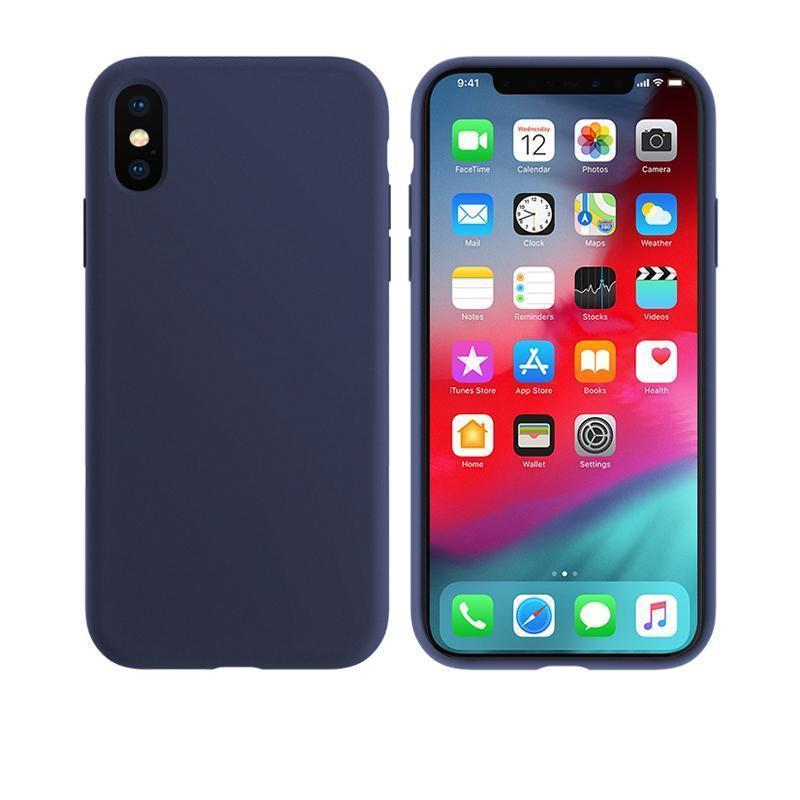 iPhone Case Original 100% Offical Silicone Soft Protection Back Cover iPhone X/XS/XR/XS Max