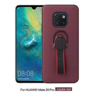 Luxury Car Bracket Braided Ring TPU Protective Magnetic Phone Case For Huawei Mate 20 Pro Lite X