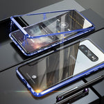 Magnetic Adsorption Transparent Tempered Glass Phone Case For SamSung S10 / S10 Plus / S10e