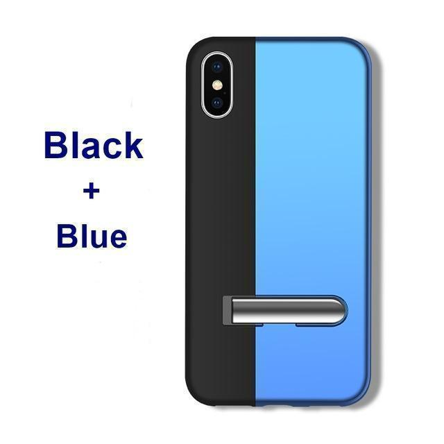 Magnetic Adsorption Case For Iphone XS MAX XS XR Built-in Magnet Bracket Case Metal Bumper Flip Cover For iPhone X 8 7 6 Plus
