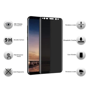 Privacy Protection Film Tempered Glass Screen Protector for Samsung Galaxy Note 9 8 S9 S8 Plus S7 Edge Anti-Spy Full Anti Peep