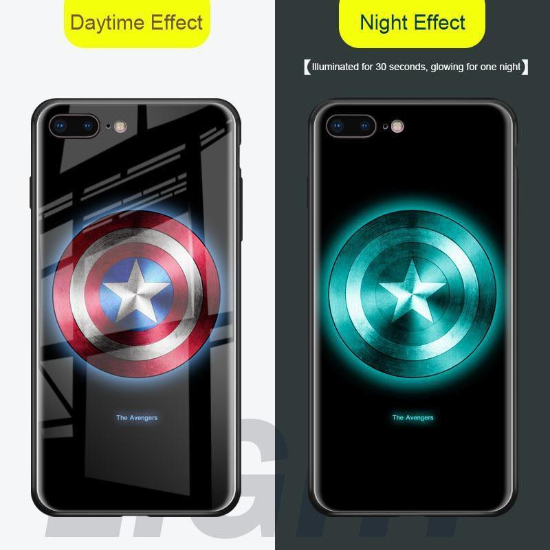 Luminous Glass Case Luxury Tempered Glass Cover Case or iPhone X/XR/XS/XS Max