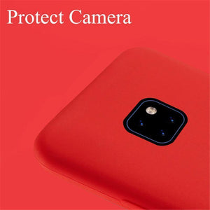 Huawei Mate 20 X Case Original 100% Offical Silicone Soft Protection Back Cover Huawei Mate 20Pro/Mate 20/Mate 20 Lite/P20/P20 Pro/P20 Lite/Mate 10 Lite Case Silicone Cover