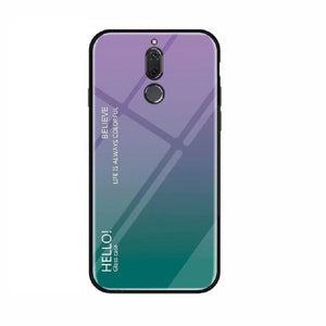 Luxury Hard Tempered Glass Fashion Gradient Protect Back Cover case For Huawei Mate 20 Lite Mate 10 P20 P30