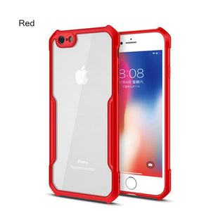 Shockproof Airbag Transparent Silicone Phone Case for iPhone 6/6s 6P/6sp 7/8 7/8 Plus X XS XR XS Max