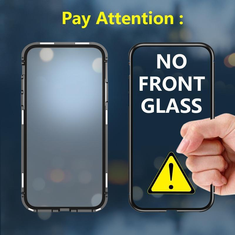 Original Magnetic Adsorption Transparent Tempered Glass Phone Case For Samsung S10