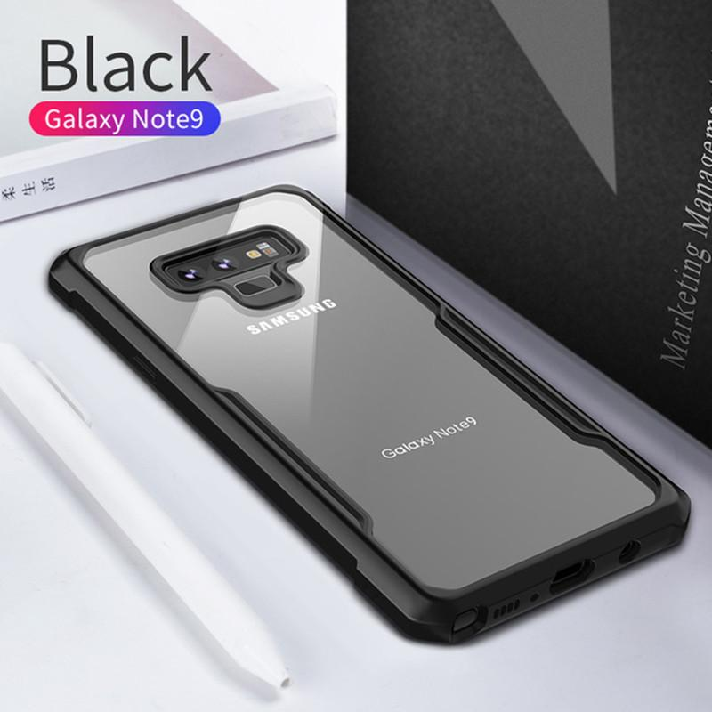 Shockproof Airbags Phone Case Transparent Silicone Protective Case for Samsung S8/S8Plus S9/S9Plus S10/S10Plus S10E/S10Lite Note8 Note9