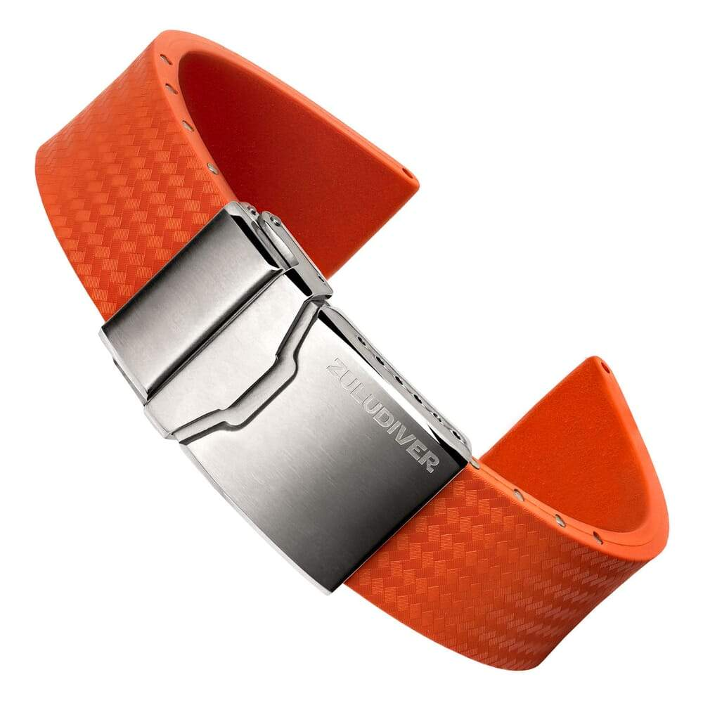 DYKARMBAND - ZULUDIVER - 400 (MKII) RUBBER STRAP - ORANGE - ROYAL STRAPS