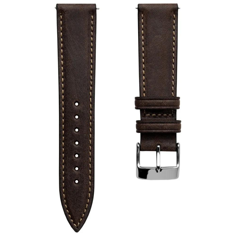 Klockarmband - Contoured Handmade Short - Chocolate Brown - ROYAL STRAPS