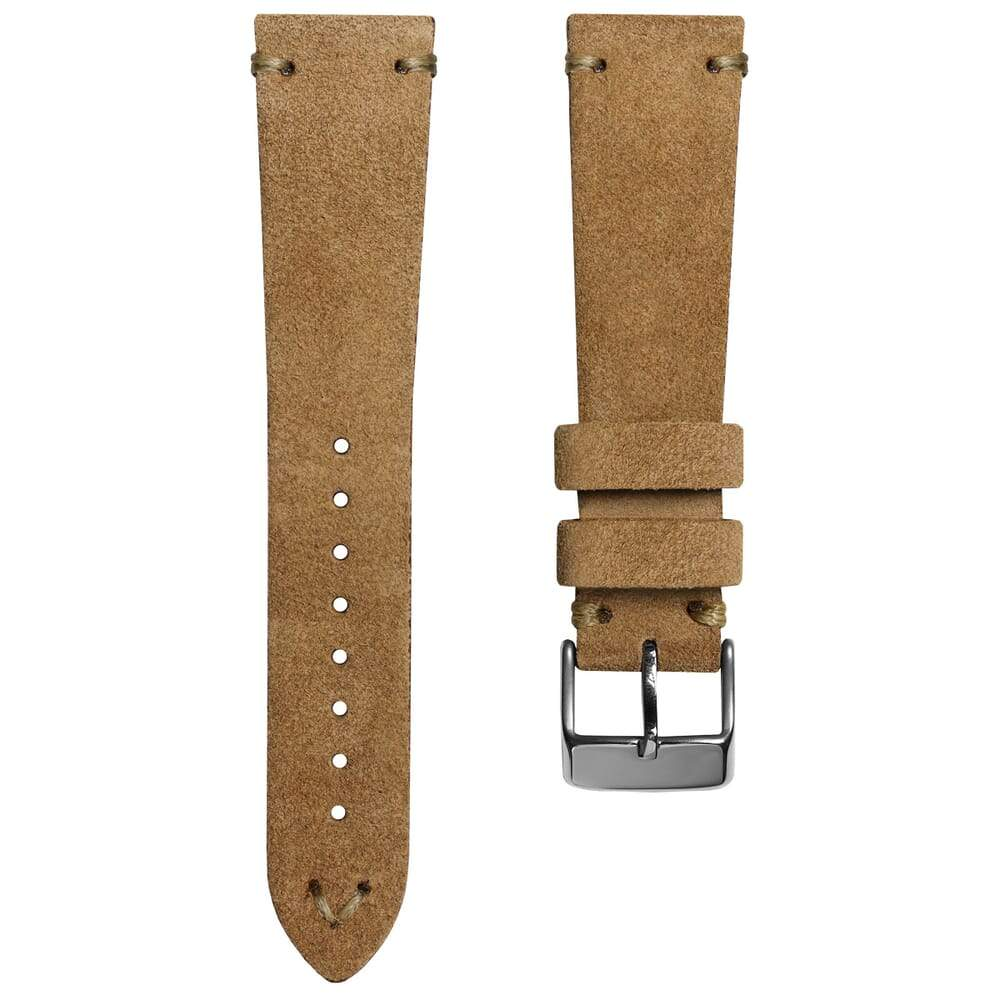 KLOCKARMBAND - GECKOTA ITALIAN SUEDE LEATHER - VINTAGE BROWN - ROYAL STRAPS