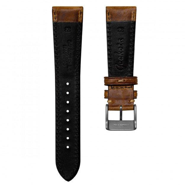 KLOCKARMBAND - GECKOTA VINTAGE HIGHLEY - BROWN - ROYAL STRAPS