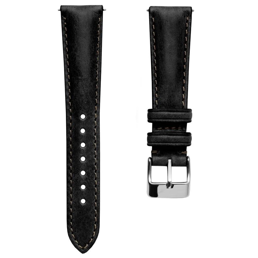 Klockarmband - Highley Handmade Short - Black - ROYAL STRAPS