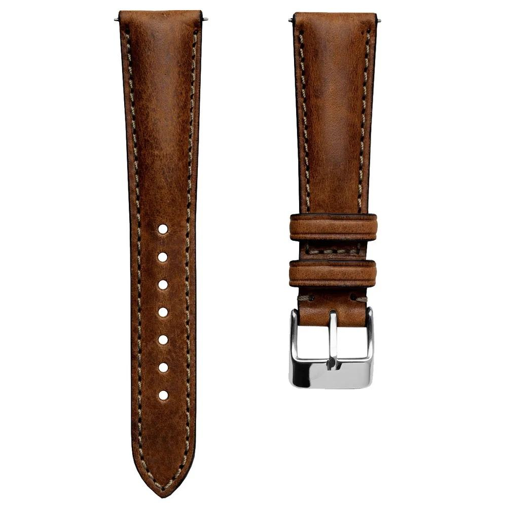Klockarmband - Highley Handmade Short - Chestnut - ROYAL STRAPS