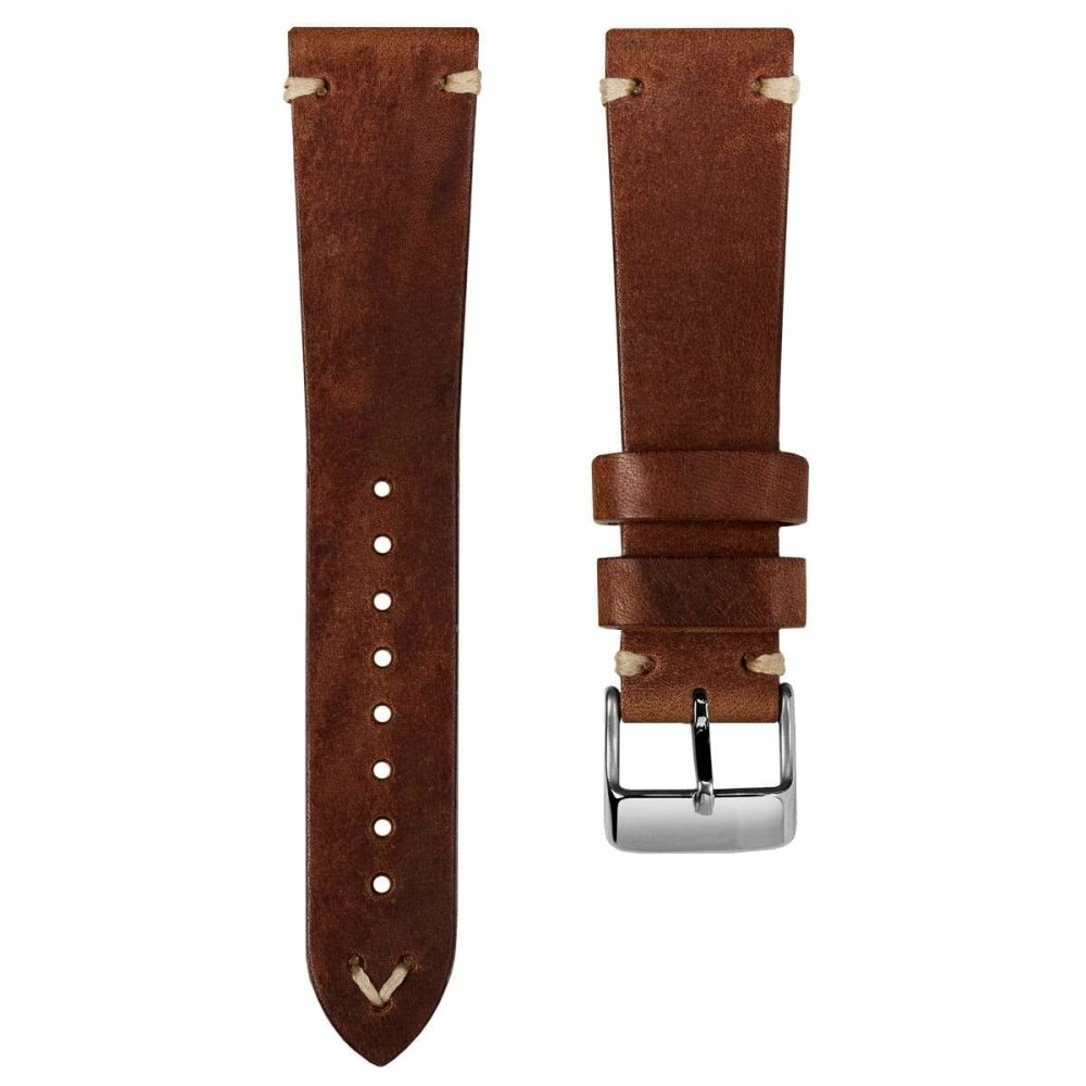Klockarmband - Simple Handmade Italian Strap - Reddish Brown - ROYAL STRAPS