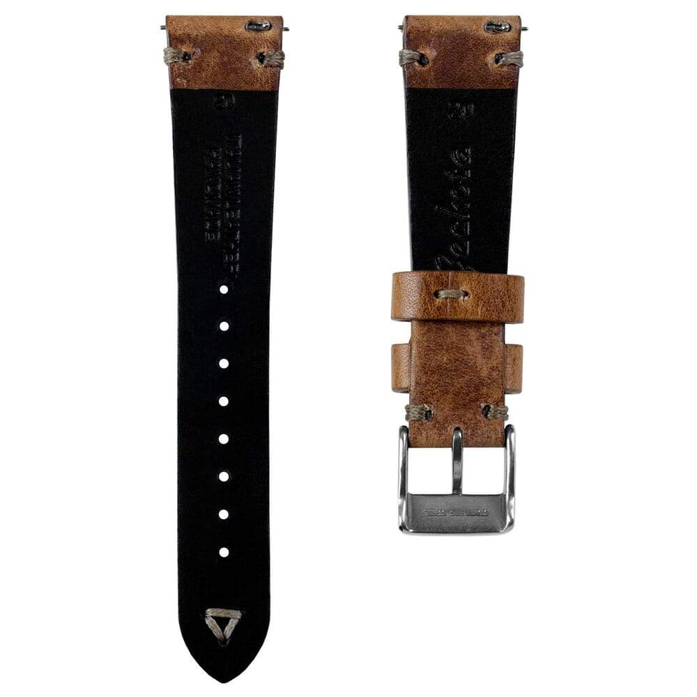Klockarmband - Simple Handmade Shorter Length - Light Brown - ROYAL STRAPS
