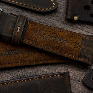KLOCKARMBAND - VINTAGE KUDU HIGHLEY STRAP - BROWN - ROYAL STRAPS
