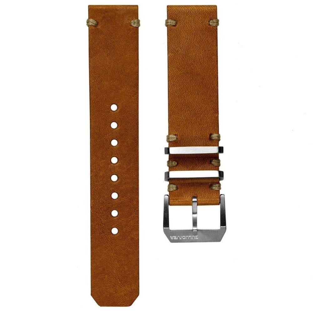 KLOCKARMBAND - ZULUDIVER DESERT PATROL - LIGHT BROWN - ROYAL STRAPS