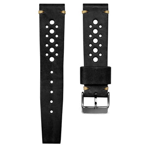 SUPER DEAL - GECKOTA HANDMADE VINTAGE RACING - BLACK - ROYAL STRAPS