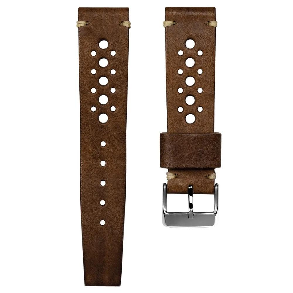 SUPER DEAL - GECKOTA HANDMADE VINTAGE RACING - CHESTNUT BROWN - ROYAL STRAPS