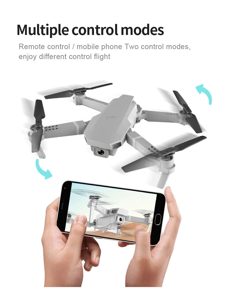 Drone 2 Pro - 4K, 1080P, 720P Camera | With 1, 2 and 3 Battery Options | Multiple control mode- Million Plaza