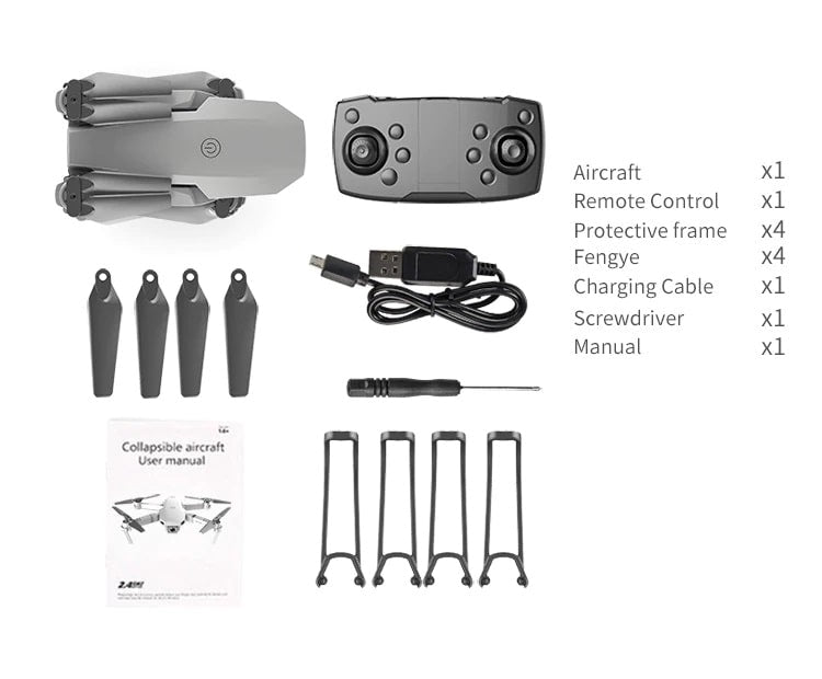 Drone 2 Pro - 4K, 1080P, 720P Camera   With 1, 2 and 3 Battery Options   Drone's bag included parts - Million Plaza