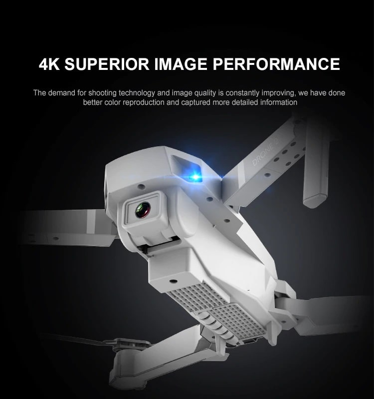 Drone 2 Pro - 4K, 1080P, 720P Camera | With 1, 2 and 3 Battery Options | 4K super camera quality- Million Plaza