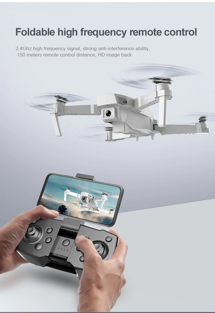Drone 2 Pro - 4K, 1080P, 720P Camera | With 1, 2 and 3 Battery Options | FC Remote control foldable camera- Million Plaza