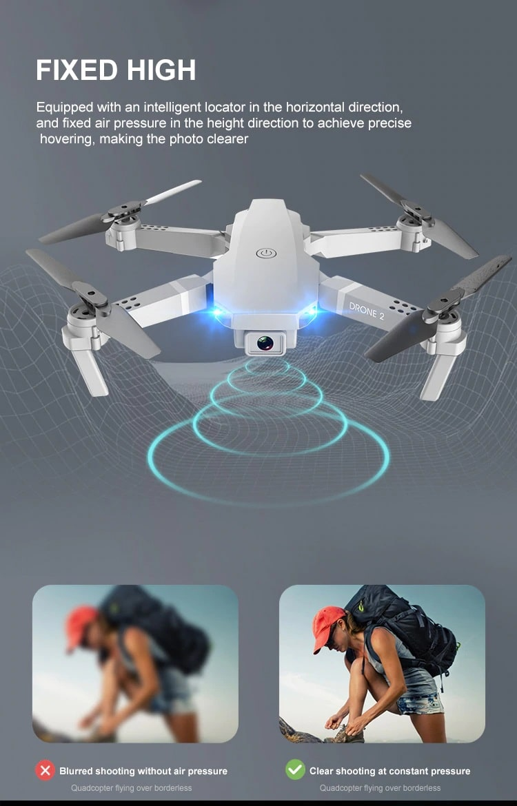 Drone 2 Pro - 4K, 1080P, 720P Camera | With 1, 2 and 3 Battery Options | High camera quality - Million Plaza