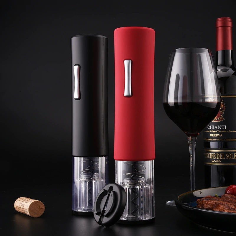 red and black wine bottle opener