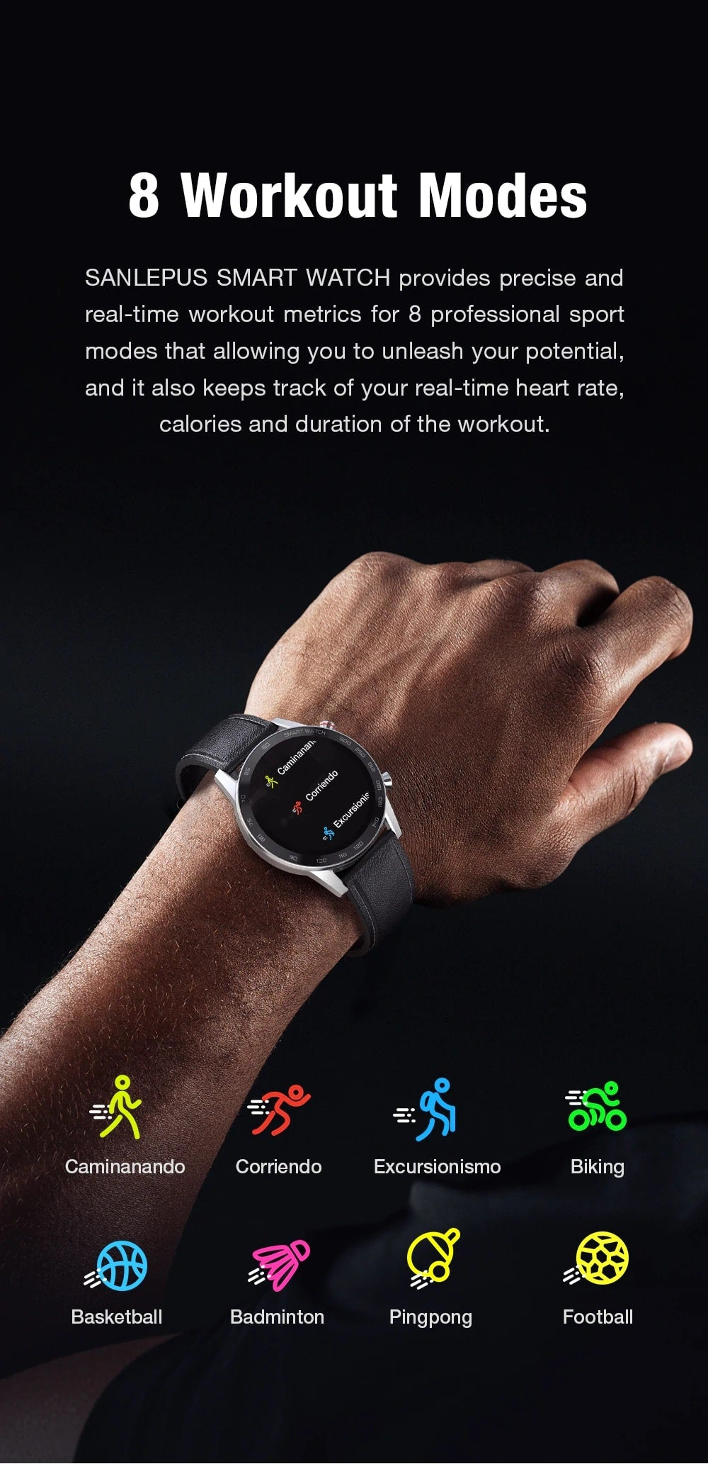 Sanlepus Business Smart Watch Bluetooth Call Smartwatch Men Sport Fitness Bracelet Clock For Android Apple IOS - Million Plaza