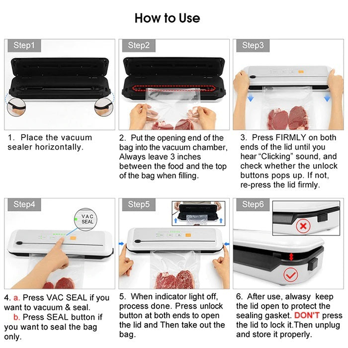 Vacuum Sealer Packing Machine Sous Vide For Food Storage And Packer Bags for Packaging | How to use - Million Plaza