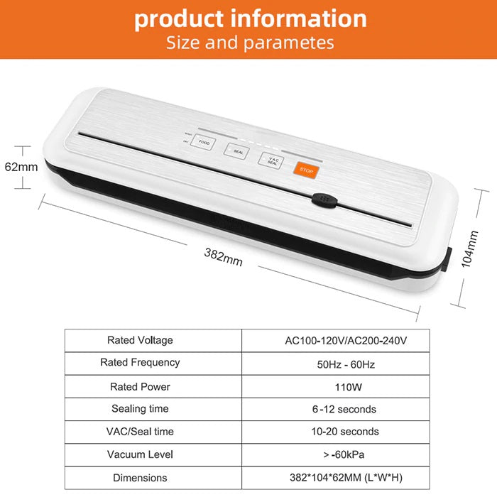 Vacuum Sealer Packing Machine Sous Vide For Food Storage And Packer Bags for Packaging | Product Information - Million Plaza
