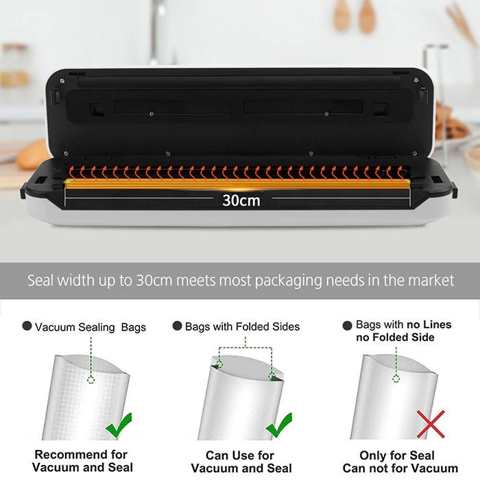 Vacuum Sealer Packing Machine Sous Vide For Food Storage And Packer Bags for Packaging | 30 cm wide sealing- Million Plaza