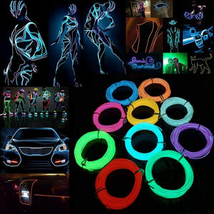 Glow EL Wire Cable LED Neon Christmas Dance Party - Million Plaza