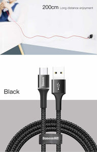 Baseus LED Lighting Micro USB Cable 3A Fast Charging - Million Plaza