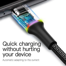 Load image into Gallery viewer, Baseus LED Lighting Micro USB Cable 3A Fast Charging - Million Plaza