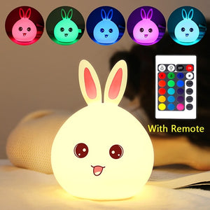 New Multicolor Rabbit LED Lamp with Touch Sensor & Remote Control - Million Plaza