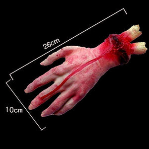 Horror Fake Bloody Hand Finger Leg Foot Brain Heart - Million Plaza