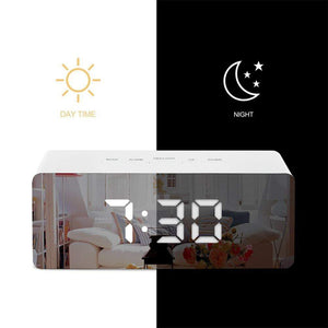 LED Digital Mirror Alarm Clock | Table Electronic Time - Million Plaza