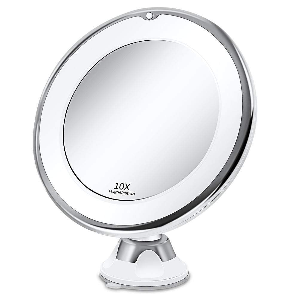 Makeup Vanity LED Lights Mirror With 10X - Million Plaza