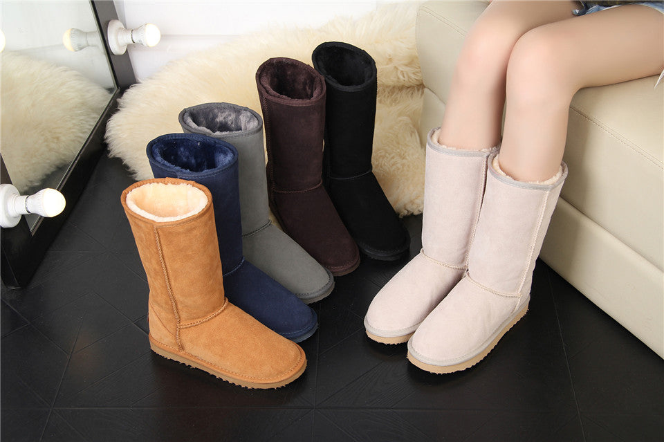 Leather Winter Warm Snow Boots For Women - Million Plaza