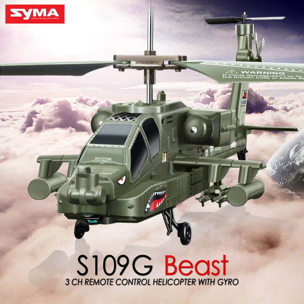 SYMA Official S109G RC Helicopter Toys - Army Green - Million Plaza