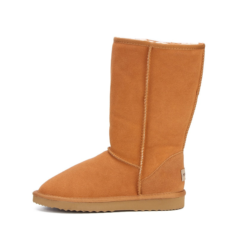 Leather Winter Warm Snow Boots For Women Side - Million Plaza