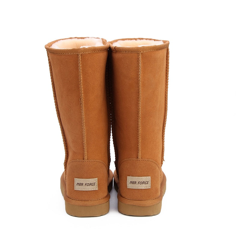 Leather Winter Warm Snow Boots For Women Back- Million Plaza